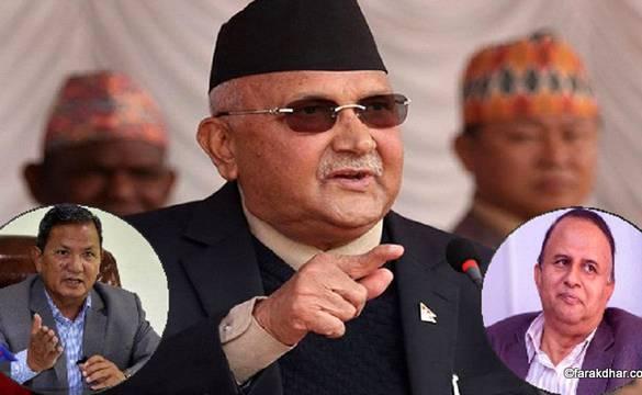 लुम्बिनी र गण्डकीको संकटले हल्लियो ओलीको 'जग'