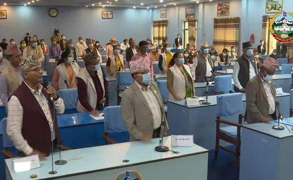 एमाले सांसदको विरोधपछि लुम्बिनी प्रदेशसभा बैठक ६ मिनेट मात्रै