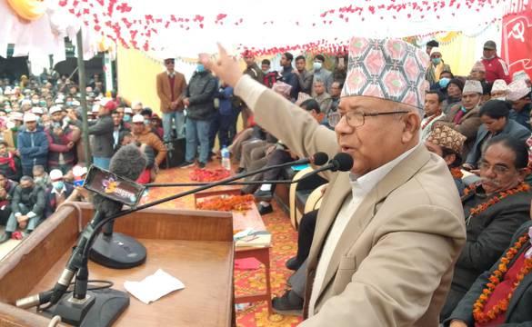 केपी गुट सडकमा उडेको धुलो मात्र हो, हामीतिर लाग्नुस् : माधव नेपाल